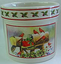 Christmas red bird candle