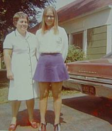 Me an my mom in 1972...lol