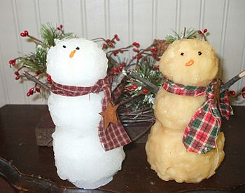 Primitive Wax Snowmen - wholesale