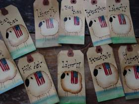 Primitive Sheep Hang Tags