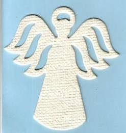 Blank angel air freshener blank.
