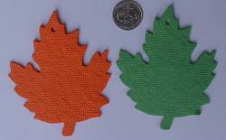 Cut out paper leafs.