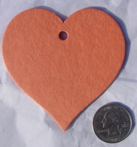 Regular heart in orange.