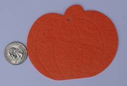 Pumpkin air freshener paper blank cut outs.