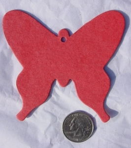 Red Butterfly paper cut out