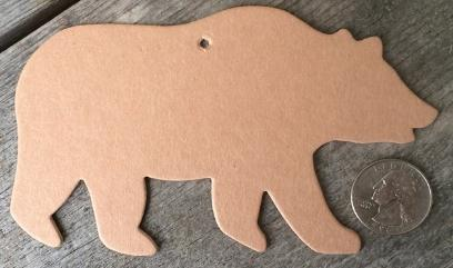 Grizzly Polar Bear Paper Cut